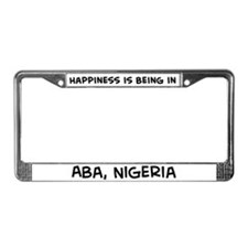 Happiness is Aba License Plate Frame