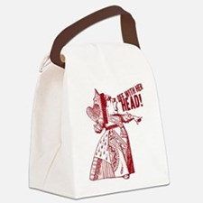Red Queen Off With Her Head Canvas Lunch Bag