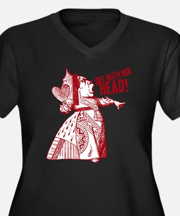 Red Queen Off With Her Head Women's Plus Size V-Ne