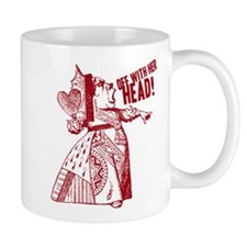 Red Queen Off With Her Head Small Mugs