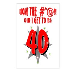 40 #*@!! Postcards (Package of 8)