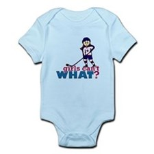 Girl Hockey Player Infant Bodysuit