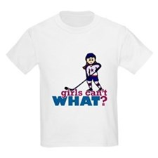 Girl Hockey Player T-Shirt