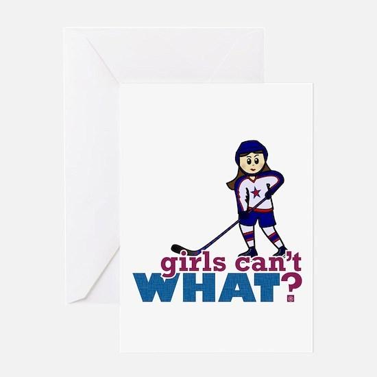 Girl Hockey Player Greeting Card