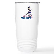Girl Hockey Player Travel Mug