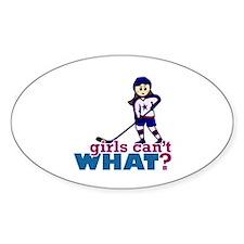 Girl Hockey Player Decal