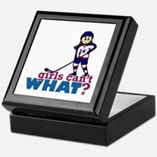 Girl Hockey Player Keepsake Box