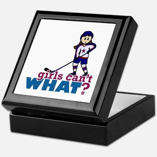 Girl Hockey Player Keepsake Box