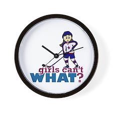 Girl Hockey Player Wall Clock