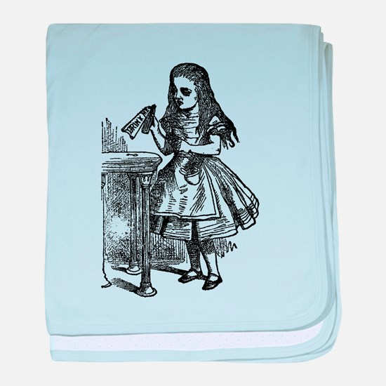 Vintage Alice Drink Me baby blanket