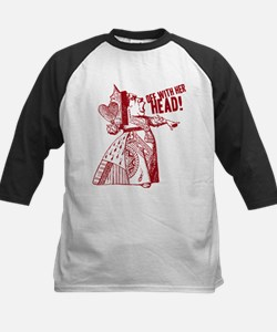 Red Queen Off With Her Head Kids Baseball Jersey