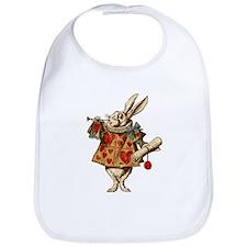 Alice White Rabbit Vintage Bib
