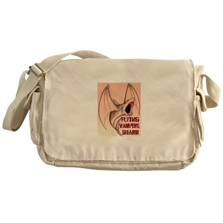 Flying Vampire-Shark Messenger Bag