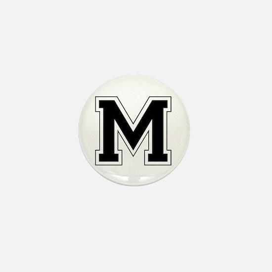 Collegiate Monogram M Mini Button