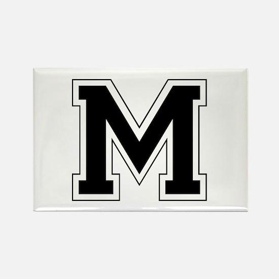 Collegiate Monogram M Rectangle Magnet