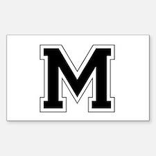 Collegiate Monogram M Decal