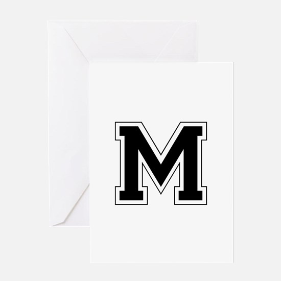 Collegiate Monogram M Greeting Card