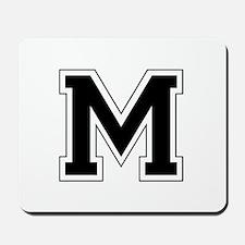 Collegiate Monogram M Mousepad