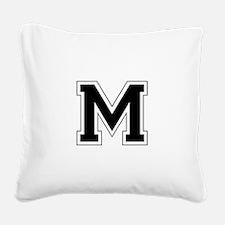 Collegiate Monogram M Square Canvas Pillow