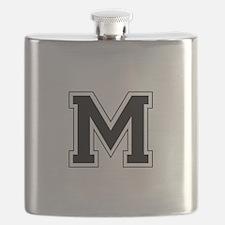 Collegiate Monogram M Flask