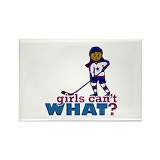 Hockey Girl Rectangle Magnet