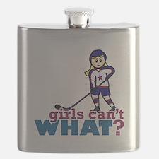 Woman Hockey Player Flask