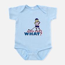 Woman Hockey Player Infant Bodysuit