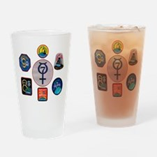 Mercury Commemorative Drinking Glass