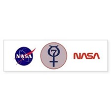 Project Mercury Program Logo Bumper Bumper Sticker