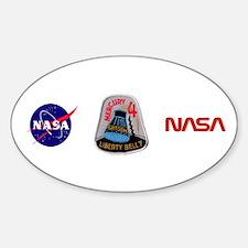 Liberty Bell 7 Gus Grissom Sticker (Oval)
