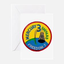 Freedom 7 Alan Shepherd Greeting Cards (Pk of 10)