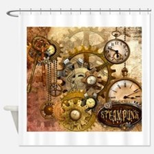 Cute Steampunk Shower Curtain