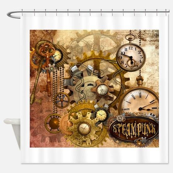 Cute Steampunk Shower Curtain