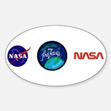 Friendship 7–John Glenn Sticker (Oval)