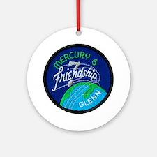 Friendship 7–John Glenn Ornament (Round)