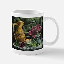 Still Life with Ceramic Vase and Flowers Mug
