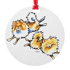 2 Cute Pomeranians Ornament