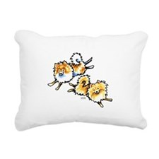2 Cute Pomeranians Rectangular Canvas Pillow