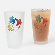 Deaf Autism Drinking Glass