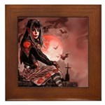 Nocturnals Halloween Girl Framed Tile