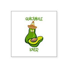 """Guacamole Lover Square Sticker 3"""" x 3"""""""