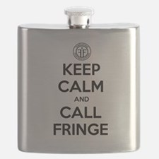 Keep Calm and Call Fringe Flask
