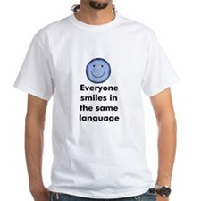 Everyone smiles in the same l Shirt