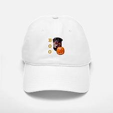 Halloween Rottie Boo Baseball Baseball Cap