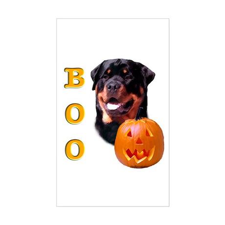 Halloween Rottie Boo Rectangle Sticker