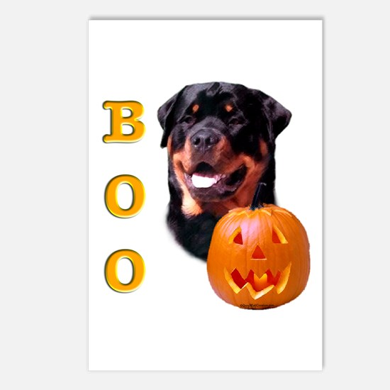 Halloween Rottie Boo Postcards (Package of 8)