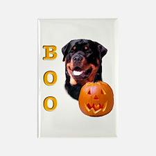 Halloween Rottie Boo Rectangle Magnet