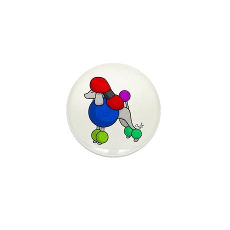 Yarn Poodle Mini Button