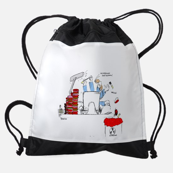 microbiologist at the bench Drawstring Bag