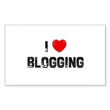 I * Blogging Rectangle Decal